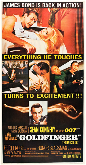 """1967 You Only Live Twice Movie Silk Fabric Poster  27/""""x40/"""" 007"""