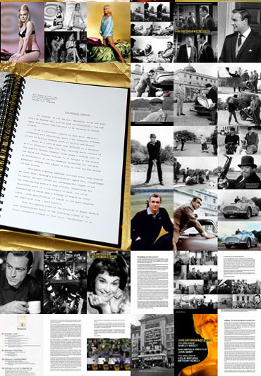 Goldfinger Portfolio montage of pages