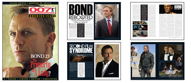 007 MAGAZINE ARCHIVE FILES - Casino Royale & Quantum of Solace - Daniel Craig as James Bond 007