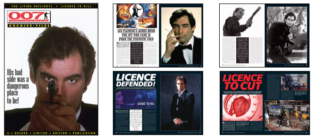 007 MAGAZINE ARCHIVE FILES The Living Daylights & Licence To Kill