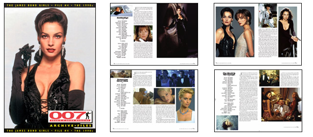 007 MAGAZINE ARCHIVE FILES - The James Bond Girls - File #4 The 1990s