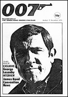 007 MAGAZINE Issue #9 - George Lazenby interview James Bond 007 OHMSS
