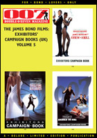 007 MAGAZINE - The James Bond Films: Exhibitors' Campaign Books (UK) Volume 5