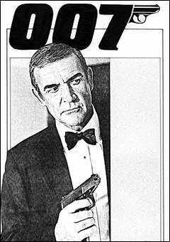 Rough layout for 007 MAGAZINE Issue #14