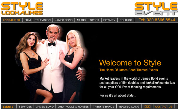 James Bond lookalikes - James Bond theme events - James Bond themed events