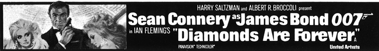 Diamonds Are Forever newspaer advertisement