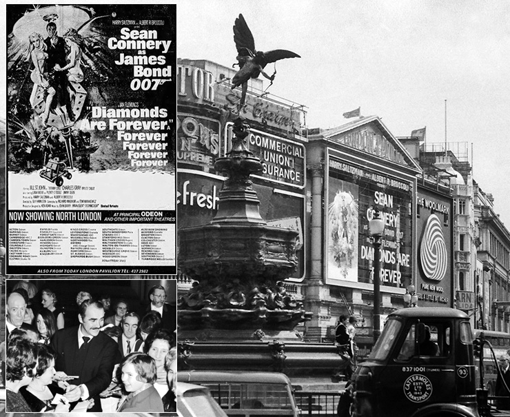 Diamonds Are Forever London Pavilion 1972