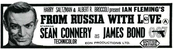 From Russia With Love Newspaper advertisement