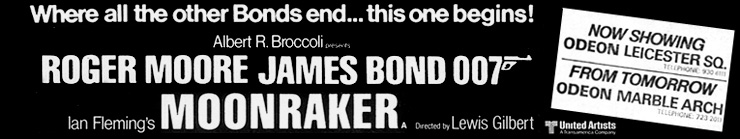 Moonraker newspaper advertisement