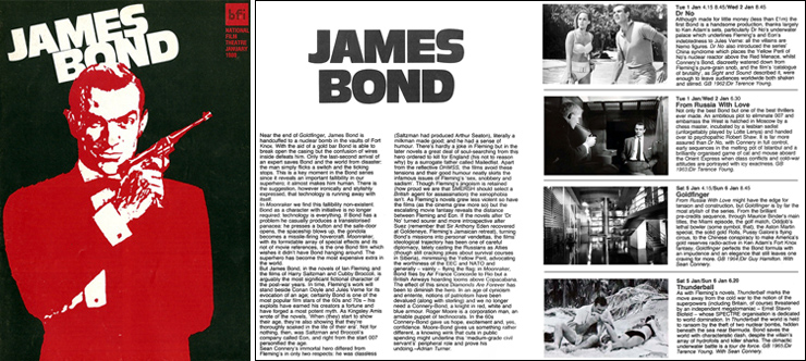 National Film Theatre 1980 James Bond season