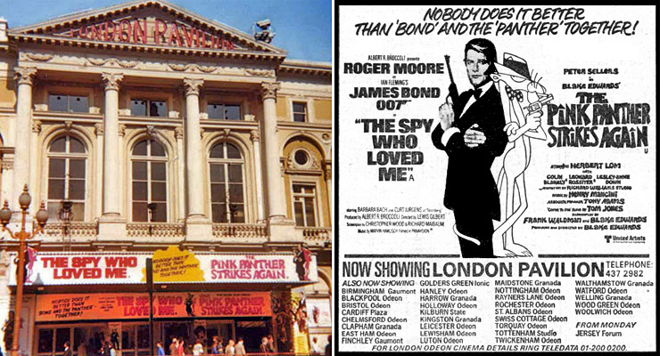 The Spy Who Loved Me/The Pink Panther Strikes Again London Pavilion 1980