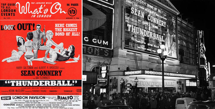 What's on In London/Thunderball premiere London Pavilion