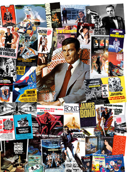 007 MAGAZINE James Bond Montage - The 1970s Roger Moore
