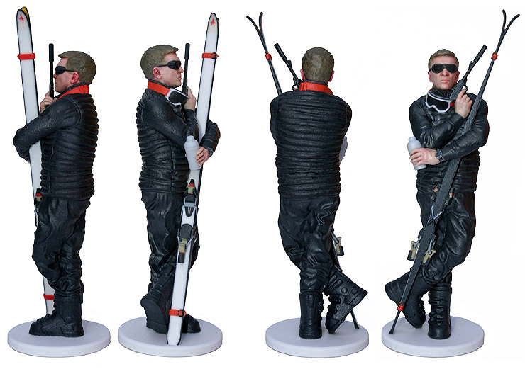 007 MAGAZINE 3D Printed Limited Edition Figurine 360