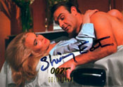 Shirley Eaton - James Bond girl - signed still