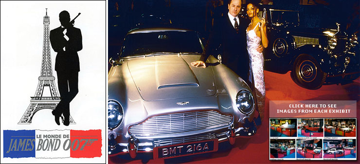 The World of James Bond 007 display at the Paris Motor Show 1996