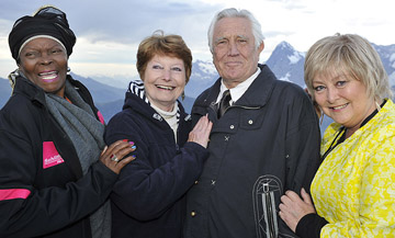 Sylvana Henriques, Catherina von Schell, George Lazenby and Jenny Hanley attented the opening of 007 WALK OF FAME.