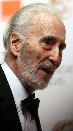 Christopher Lee at the 2011 BAFTA's