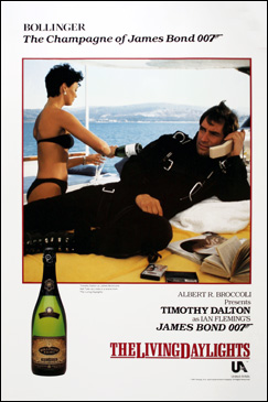 Bollinger poster The Living Daylights (1987)