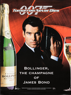 Bollinger poster Tomorrow Never Dies (1997)