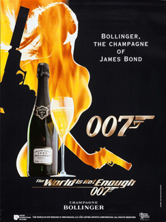 Bollinger poster The World Is Not Enough (1999)