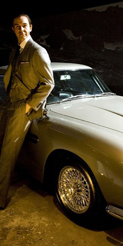 Sean Connery waxwork and Aston Martin DB5