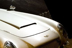 Aston Martin DB5 in a recreated scene from Goldfinger (1964)