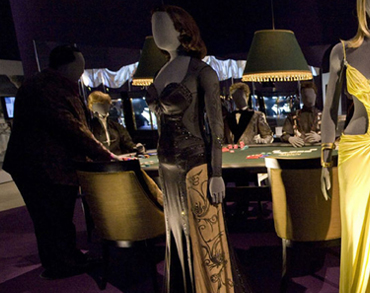 The Casino Room featuring costumes from Casino Royale (2006)