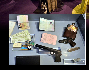 Props and personal effects created for James Bond