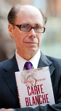 New James Bond author Jeffery Deaver launches CARTE BLANCHE in London