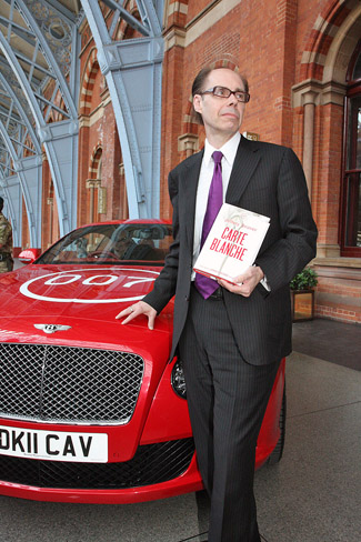 James Bond author Jeffery Deaver with the Bentley Continental GT