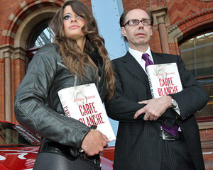 Chesca Miles and Jeffery Deaver at the CARTE BLANCHE launch