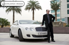 Jeffery Deaver with Bentley Continental GT
