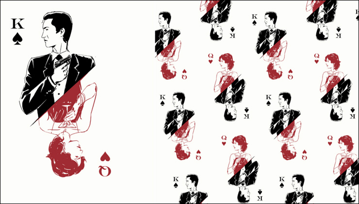 CASINO ROYALE endpapers