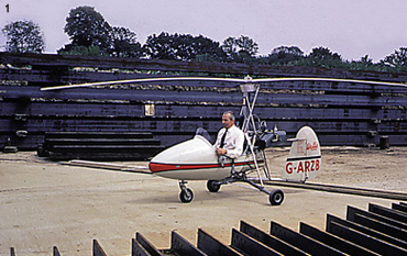 Ken Wallis's original demonstration flight for 'Cubby' Broccoli at Pinewood Studios in 1966