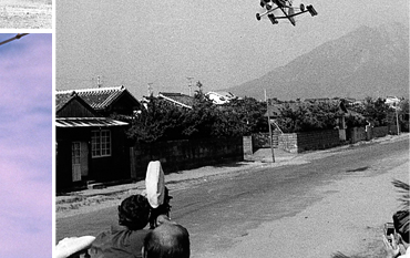 Filming the start of the sequence in Japan