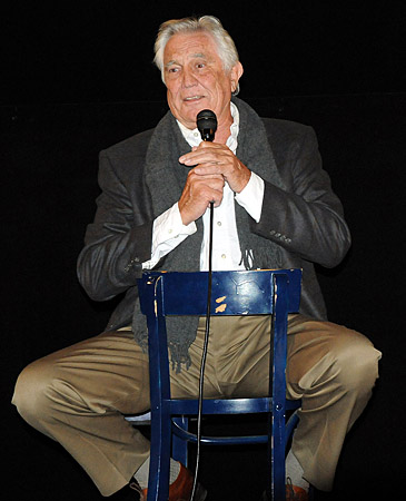 James Bond star George Lazenby on stage at the American Cinematheque