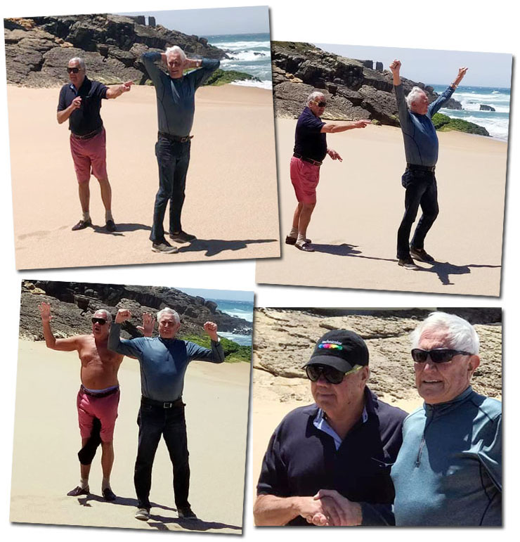 George Lazenby & Terence Mountain reunited on Guincho Beach May 2019