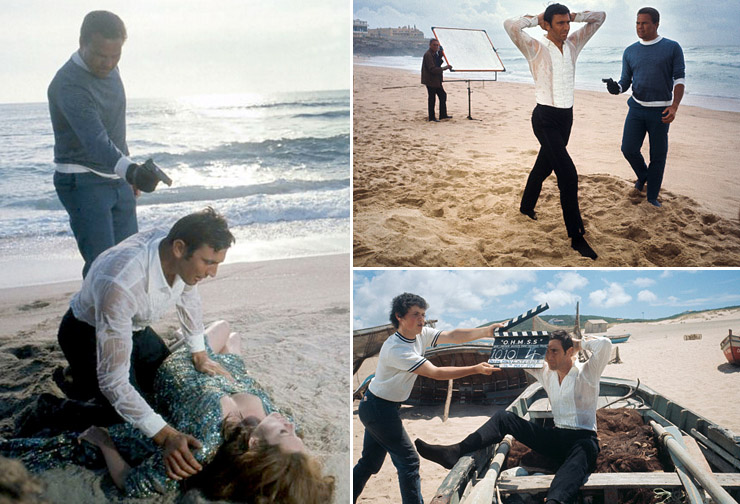 Filming On Her Majesty's Secret Service on Guincho Beach May 1969