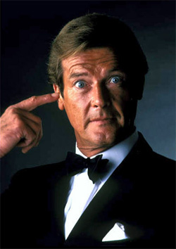 Seven-time James Bond Sir Roger Moore
