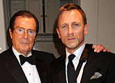 Sir Roger Moore and Daniel Craig