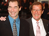Timothy Dalton and Sir Roger Moore