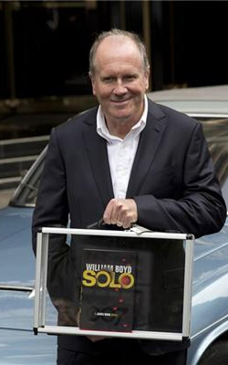 William Boyd with his new James Bond novel SOLO at the Dorchester Hotel