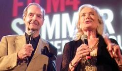 Guy Hamilton and Shirley Eaton at Somerset House