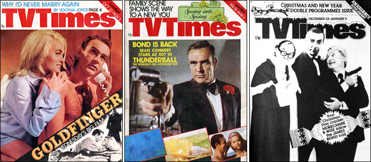 James Bond premieres on TV Times covers