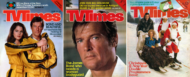 Roger Moore TV Times covers