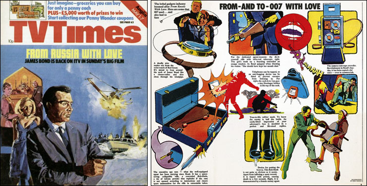 From Russia With Love TV Times illustrations Mike Francis