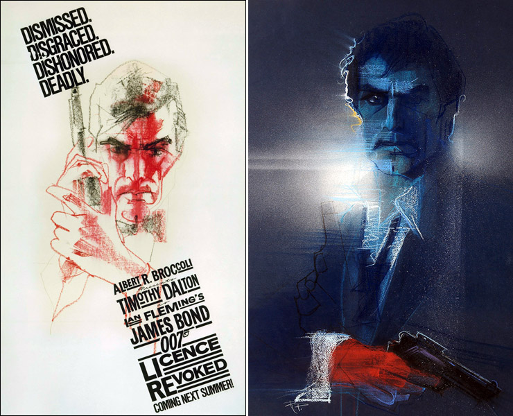 Licence Revoked concept art by Bob Peak