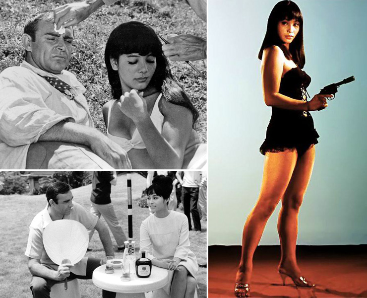 Sean Connery on location in Japan with Mie Jama & Akiko Wakabayashi